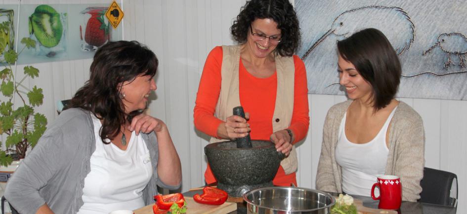 Gruppenbild ayurvedischer Kochkurs